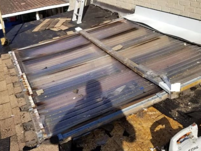 Skylight replacement - April 2020 - Before